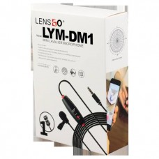 LENSGO LYM-DM1 2 In 1 Omni-Directional Lavalier Video Interview Condenser Microphone With 6m Cable