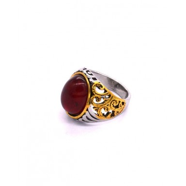 Red Stone Ruby Turkish Jewelry 925 Sterling Silver Rings