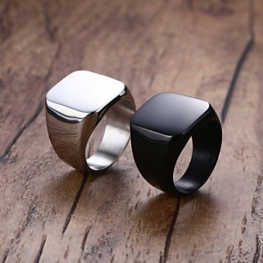 Titanium Stainless Steel Punk Ring
