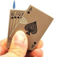 Poker Metal Windproof Cigarette Gas Lighter - Playing Cards