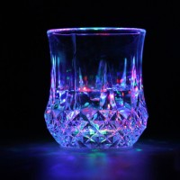 LED Flashing Glowing Water Liquid Activated Light-Up Wine Glass Cup