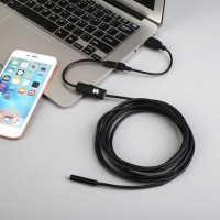 Endoscope IP67 Waterproof Android Endoscope camera Inspection LED Video Mini Micro Camera BLACK